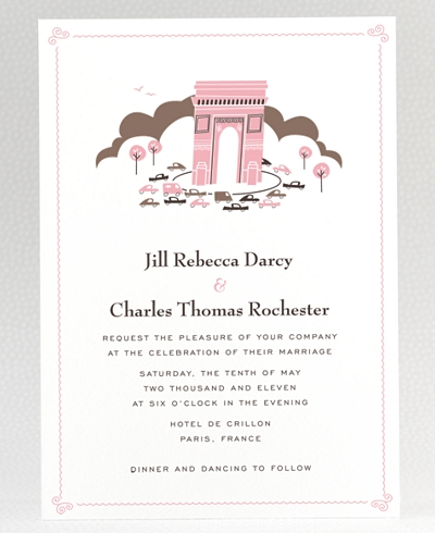 Visit Paris Wedding Invitation
