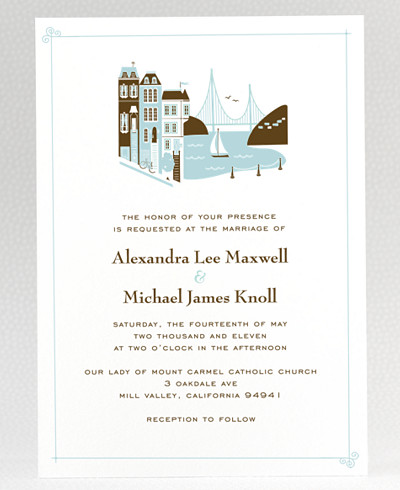 Visit San Francisco Wedding Invitation
