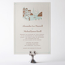 Visit San Francisco---Letterpress Wedding Invitation