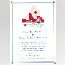 Visit Texas - Wedding Invitation