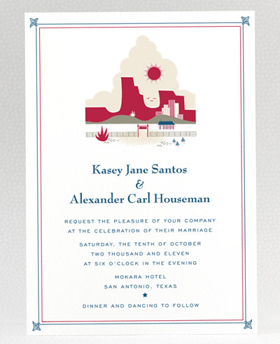 Visit Texas Wedding Invitation