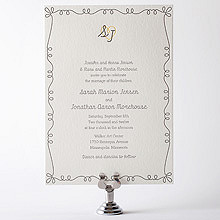 Whimsy: Letterpress Wedding Invitation