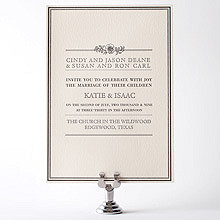 Wildwood---Letterpress Wedding Invitation
