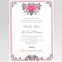 Woodland Damask---Wedding Invitation