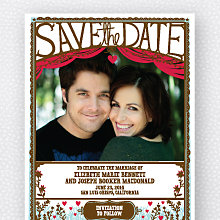 Cut Paper: Save the Date Magnet