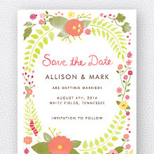 Flora and Fauna: Save the Date Magnet