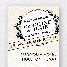 Marquee: Save the Date Magnet
