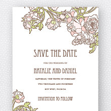 Nouveau Peonies: Save the Date Magnet