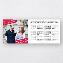 Ribbon 2014 Calendar: Save the Date Magnet