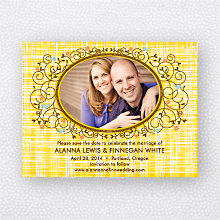 Swirly Vine: Save the Date Magnet