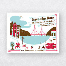 Visit San Francisco: Save the Date Magnet