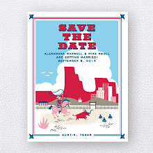 Visit Texas: Save the Date Magnet
