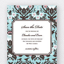 Woodland Damask: Save the Date Magnet