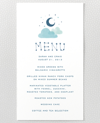 Adventure Menu Card