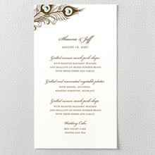 Antoinette: Letterpress Menu Card