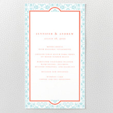 Architecture - Letterpress Menu Card
