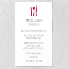 Big Day: Letterpress Menu Card
