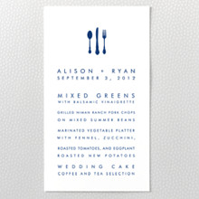 Boston Skyline ---Menu Card
