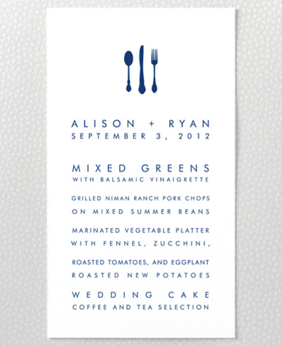 Boston Skyline Menu Card