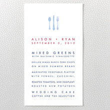 Boston Skyline : Letterpress Menu Card