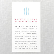 Chicago Skyline---Letterpress Menu Card
