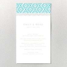 Cross Stitch - Letterpress Menu Card