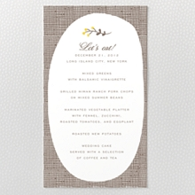 Darling Bud---Letterpress Menu Card