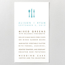 Desert Skyline : Letterpress Menu Card