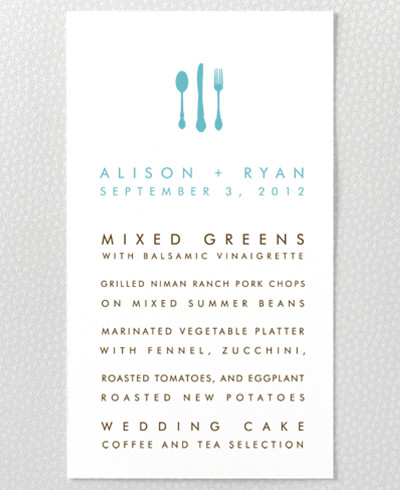 Desert Skyline Letterpress Menu Card