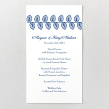 Duchesse: Letterpress Menu Card