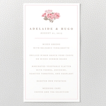 English Rose - Letterpress Menu Card