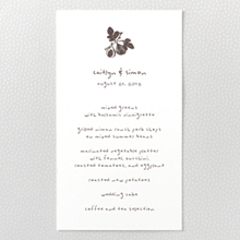 Figs - Letterpress Menu Card