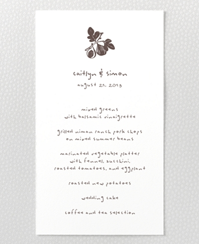 Figs Menu Card