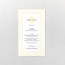 Fillmore - Letterpress Menu Card