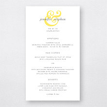 Ampersand - Letterpress Menu Card