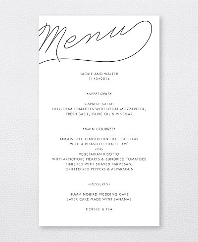 Atlantic Menu Card
