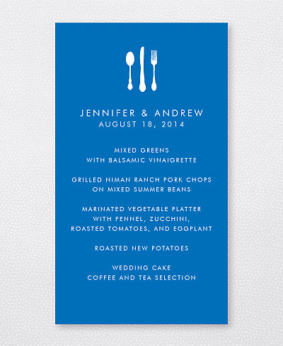 Austin Skyline Menu Card