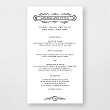 Flourish - Letterpress Menu Card