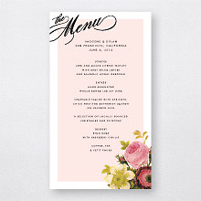 La Vie en Rose - Menu Card
