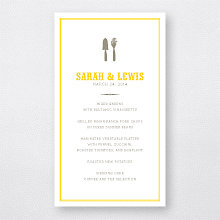 Lemonade Stand---Letterpress Menu Card