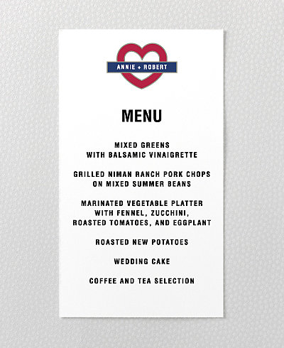 Love London Menu Card