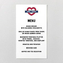 Love London: Menu Card