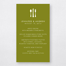 Mountain Skyline---Menu Card