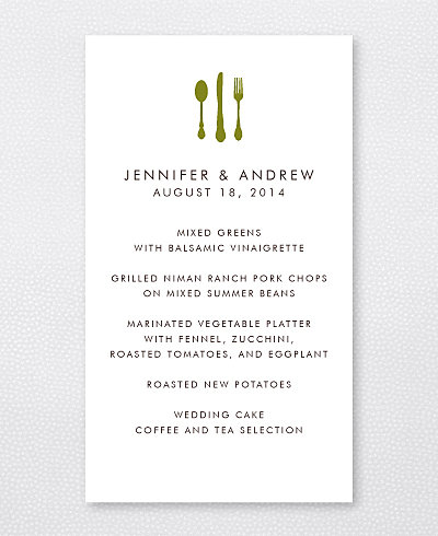 Mountain Skyline Menu Card