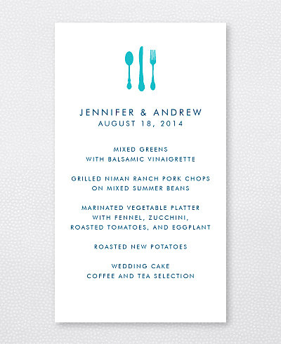 Portland Skyline Menu Card