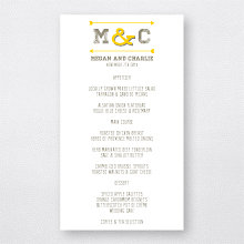 Shields and Arrows---Letterpress Menu Card