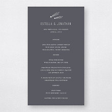 Shooting Star: Menu Card