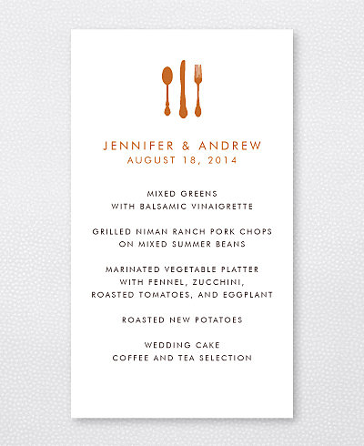 Wine Country Skyline Menu Card
