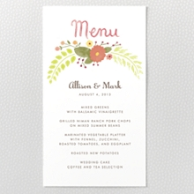 Flora and Fauna - Menu Card