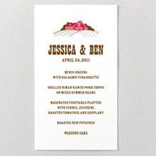 Heartland - Letterpress Menu Card